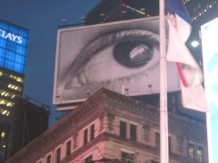 For our prayer run, we went to our country's former capitals and prayed, one of them being New York. In Times Square, I saw this eye!